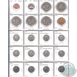 Estate Lot of Mixed Canada Uncirculated coins dated 1961 to 2007. Please refer to images for the coi