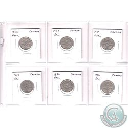 Estate Lot of 1922-1936 Canada 5-cent Collection. You will receive the following: 1922 Near, 1922 Fa