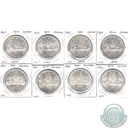 Estate lot of 1965 & 1966 Canada Silver Dollars UNC. You will receive 4x 1965 and 4x 1966. 8pcs.