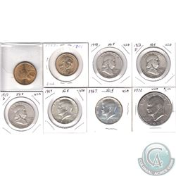 Estate Lot of Mixed USA Coins dated 1948 to 2002. You will receive the following; 1948 Half, 1951D H