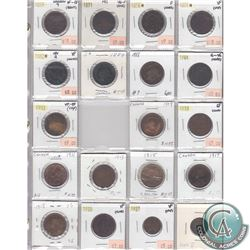 Estate Lot of 1859-1936 Canada 1-cent Collection. You will receive the following dates: 1859 Narrow