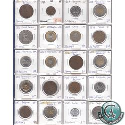 Estate Lot of 1910-2008 Miscellaneous World Coin Collection. 20pcs