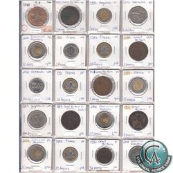 Estate Lot of 1889-2008 Miscellaneous World Coin Collection. 20pcs