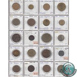Estate Lot of 1917-2009 Miscellaneous World Coin Collection. 20pcs
