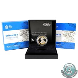 2015 United Kingdom 2 Pound Britannia's Renaissance the Definitive Britannia Sterling Silver Gold Pl