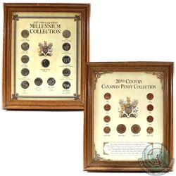 Pair of Canada Coin Sets in Wooden Frames Produced by Heritage Collectables. You will receive  20th