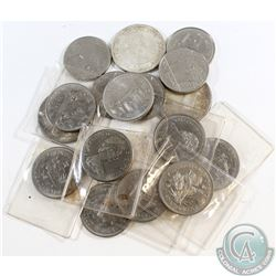 Estate Lot of 17x Canada Silver & Nickel Dollars Dated 1964-1985. You will receive 3x Silver Dollars