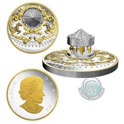 SCARCE!!!!! 2018 Canada $50 Antique Carosel 6oz. Fine Silver Coin (Tax Exempt)