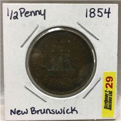New Brunswick Half Penny 1854