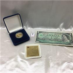 Canada $1 Bill & Proof Dollar (CHOICE of 2 Pairings)