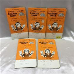 Credit Union Quarter Saver Collection (5 Pouches w/Contents)