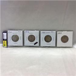 Canada Twenty Five Cent (4)    (CHOICE of 2 Groupings)