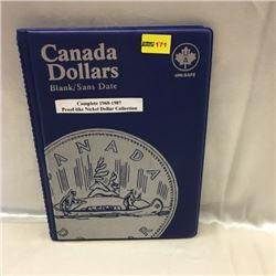 Canada Proof-Like Nickel Dollar Collection (20) (Uni-Safe Folder)