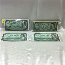 Canada $1 Bills 1967 (4)