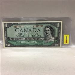 Canada $1 Bill 1954