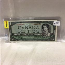 Canada $1 Bill 1954 DF
