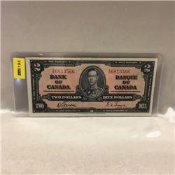 Canada $2 Bill 1937