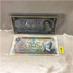 Canada $5 Bills (2)