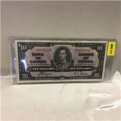 Canada $10 Bill 1937
