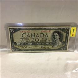 Canada $20 Bill 1954