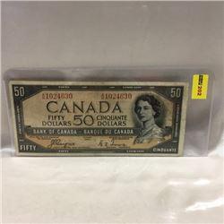Canada $50 Bill 1954DF