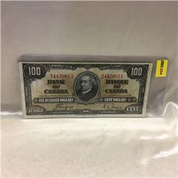 Canada $100 Bill 1937