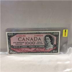 Canada $1000 Bill 1954