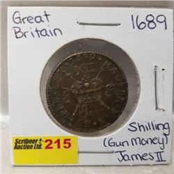 Great Britain Shilling (Gun Money) James II