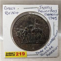 Great Britain Duke of Cumberland Jacobite Rebellion