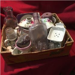 Box Lot: Amethyst & Purple Glassware & Chinaware Combo