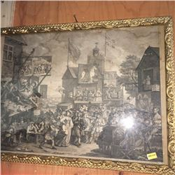 """Framed Print (21"""" x 16"""") : SOUTHWARK FAIR Invented Painted & Engraved by Wm Hogarth 1733"""