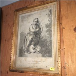 """Framed Print (13""""x17""""): """"For Dr. Arnold's Edition of Handel's Works"""" from the Statue in Vauxhall Gar"""