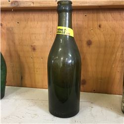 """Green Embossed Bottle: """"Property of Edelweiss Brewery W'P'G"""""""