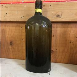 """Green Embossed Bottle: """"Imperial Quart"""""""