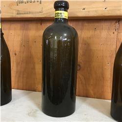 "Green Embossed Bottle: ""Saxlehner Bitterouelle Hunyadi Janos"""