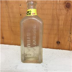 Clear Embossed Bottle:  Norway Pine Syrup