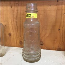Clear Embossed Bottle:  Royal Salad Dressing Horton-Cato MFG. Co. Detroit Mich