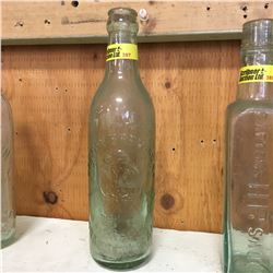 Aqua Embossed Bottle:  Brandon Brewing Co Trade Mark Brandon Man