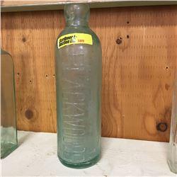 Aqua Embossed Bottle:  Blackwoods Winnipeg