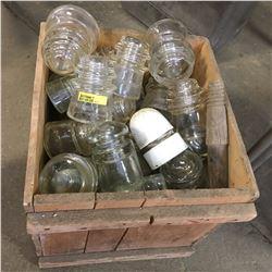 Egg Crate Lot w/Insulators