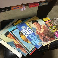 Elvis Presley Records Albums, VHS Movies, & King Jar