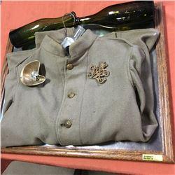 Militaria: Boer War Jacket - Canadian (Some Fabric Damaged), 5 Western Canada Militia Buttons & Brit