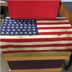 """American Flag - 46 Star! (27"""" x 45"""") 1908-1912"""