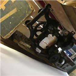 Film Projector, Film Reel Tins, Movie Reels, & Blue Book of Projection