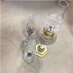 Coal Oil Lamp Trio