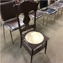 Wooden Press Back Chair