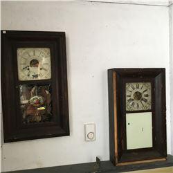 Pair of Waterbury Clocks
