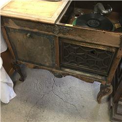 """Gramophone/Music Cabinet """"Melotone Jones & Cross Edmonton, Alta"""" (Not Working)"""