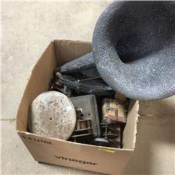 Box Lot: Phonograph Parts