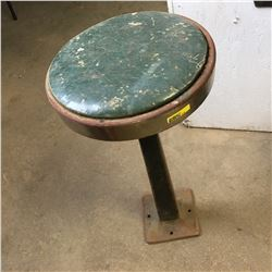 Green Seat Diner Stool - Cast Base